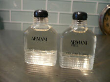 Lot of 2 Bottles Giorgio Armani Eau Pour Homme Cologne for Men .33 oz Mini