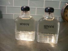 Lot of 2 Bottles Giorgio Armani Eau Pour Homme Cologne for Men .33 oz Mini
