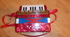 Free Ship Kids Piano Accordion 17 Keys 8 Bass Red