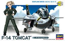 Hasegawa 60102 TH2 Egg Plane Series Aircraft Model Kit USN Grumman F-14 A Tomcat