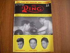 THE RING - BOXING MAGAZINE - NOVEMBER 1956 - SUGAR RAY ROBINSON, JOE BROWN