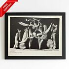 Pablo Picasso - Figures on Dark Background,  Original Hand Signed Print with COA
