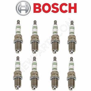 For Mercedes Benz Super YTTRIUM Bosch Spark Plug F8DC4 Set Of 8 OEM Recommended