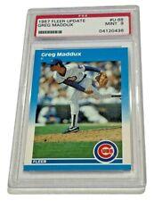 GREG MADDUX 1987 FLEER UPDATE #U68 PSA 9 MINT BASEBALL TRADING CARD