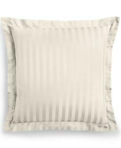 Charter Club Damask European Sham 100% Supima Cotton 550 Thread Ivory Stripe NEW