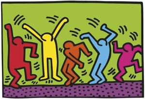 """HARING, KEITH - UNTITLED, 1987 (DANCE) - ART PRINT POSTER 32"""" X 47"""" (2696-7)"""