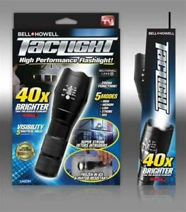 BELL+HOWELL TACLIGHT HIGH PERFORMANCE FLASHLIGHT 40X BRIGHTER FREE POSTAGE