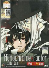 MONOCHROME FACTOR - COMPLETE ANIME TV SERIES DVD (1-24 EPS)