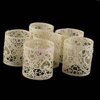6PCS DIY Tea Light Candle Holders Lampshade Wedding Shower Party Table Decor