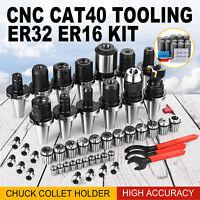 CAT 40 Tooling Kit for Haas Fadal CNC Milling Tool Chuck Collet Holder ER32 ER16
