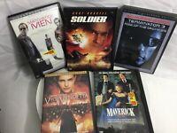 Lot Of 5 DVD Movies By Warner Bros Matchstick Men Terminator 3 V For Vendetta