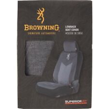Browning Buckmark Chevron Gray & Black Seat Cover, Universal Car Truck Auto