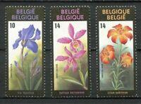 38479) BELGIUM MNH** 1990 Flower 3v