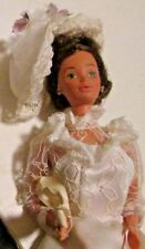 Vintage Barbie doll Tracy Bride Steffie face wearing wedding gown & hat