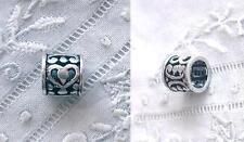 Echtschmuck-Bettelarmbänder & -Anhänger aus Sterlingsilber mit Perle und Herz