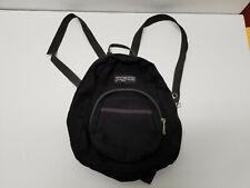 Vintage Jansport Half Pint Mini Black Backpack Bag School Small Grunge