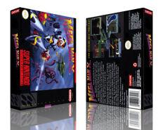 Mega man x 7 Replacement SNES Game Case Box + Cover Artwork Art (No Box)