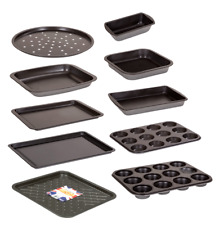 KASABONA Bakeware Set Non Stick Baking Trays Oven Sheets Roasting MULTIPLE SETS