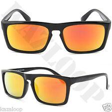 b8f0aef29f Cuadrado clásico Tapa Plana Gafas de sol rectángulo ojo de la cerradura  100% de protección UV