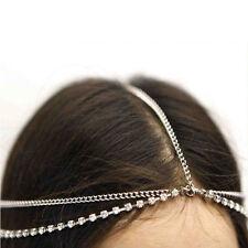 Bohemian Gold/Silver Rhinestone Head Chain Wedding Headchain Hair Band Forehead