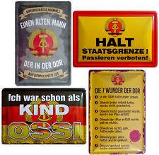 Blechschild Schild 20x30cm Wunder der DDR Staatsgrenze Alter Mann Kind Ossi