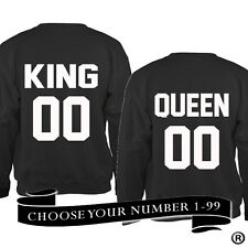 KING 00 AND QUEEN 00 SWEATSHIRT KING 01 QUEEN 01***YOUR CHOICE OF NUMBER***