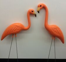 Pair Orange Flamingos Lawn Ornaments Baltimore Orioles