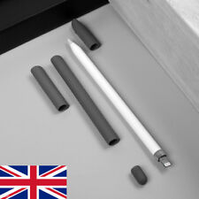 For iPad Tablet Apple Pencil Replacement Cap+Non-Slip Pen Grip+Nib Jacket 4 in1