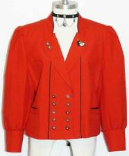 RED WOOL Austria Designer Women Dress Suit JACKET 10 M