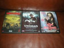 LOT 3 DVD FILMS HORREUR ZOMBIS : LAND OF THE DEAD + UNDEAD + RETOUR MORTS VIV.3