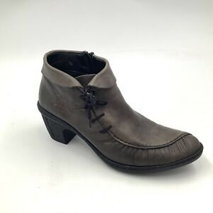 Womens Rieker Ankle Boots Remonte Dorndorf Booties Sz 39 8.5 9 US Gray Leather