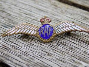Vintage WW2 RAF Royal Air Force 'Wings' Small Enamel Sweetheart Badge Brooch