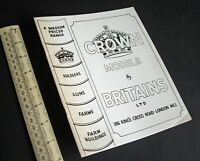 1940s/1980s Crown Models by Britain's Ltd Facsimile Catalogue (Economy Range).