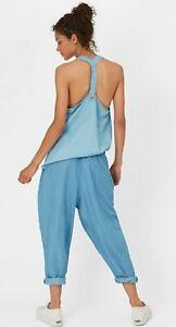 Sweaty Betty Boro Boro Fashion Vest Denim Look size S NEW EB484-B13