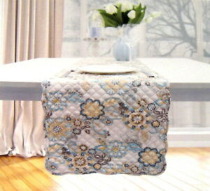 """Waverly Quilted Floral Table Runner 13 x 72""""  Polyester Multi Color"""
