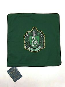 """Pottery Barn HARRY POTTER House Patch Slytherin Pillow Cover Green 16"""" sq #3610A"""