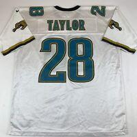 VTG 90s Nike Jacksonville Jaguars Fred Taylor #28 Home Jersey Sz 2XL XXL White