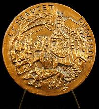Médaille Le Beaucet Château Lubéron Provence monts de Vaucluse 1979 medal