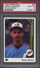 1989 Upper Deck 25 Randy Johnson Star Rookie  PSA 8 NM Mint