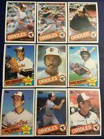 1985 Topps BALTIMORE ORIOLES Complete Team Set 31 RIPKEN, MURRAY Sharp LOOK !