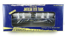 AMERICAN FLYER/Lionel S Scale #6-48527 SF Flatcar w/Jet Engine Containers  T141