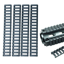 4 Pieces Heat Resistant Weaver Picatinny Ladder Rail Cover - Black