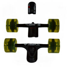 Easy People Longboards Black Truck set Yellow wheels,Spacer,ABEC-7