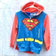 Nwt Superman cape hoodie sweatshirt boys 8/10