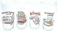 McDonalds 1995 Retro Vintage Style Drinking Glass Set of 4 Libbey Glass