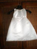 LITTLE GIRLS by MON CHERI white Flower girl WEDDING PARTY dress sz 2 PAGEANT