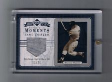 2002 UPPER DECK PLUS MICKEY MANTLE Jersey card MOMENTS #11 of # 25 Yankees