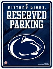 "PENN STATE NITTANY LIONS 8.5""x11"" METAL RESERVED PARKING SIGN RICO INDUSTRIES"