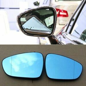 2pcs New Power Heated w/Turn Signal Side View Mirror Blue Glasses For Citroen C5