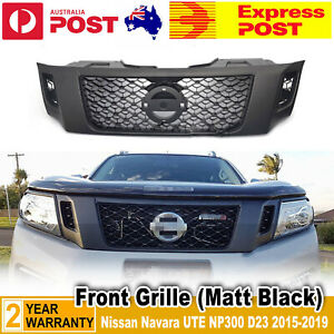 For Nissan Navara NP300 D23 UTE 2015- 2019 Matt Black Front Bumper Bar Grille